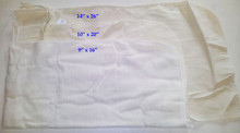 What are the specs on the material that the plastic mesh worm bags are made from?